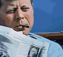 Painting John F. Kennedy and quotation Sticker