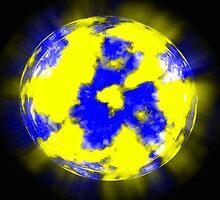 Unknown planet on a dark blue background by alexmak