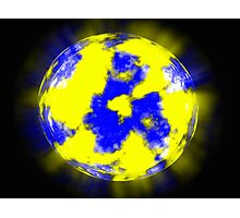 Unknown planet on a dark blue background Photographic Print