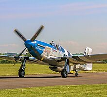 P-51C Mustang 43-25147 NL487FS  by Colin Smedley