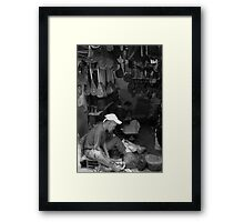 Hand craft in Marrakesh market Framed Print