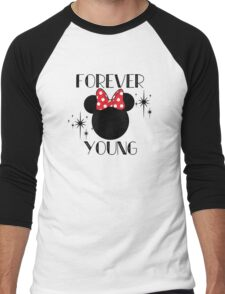 Forever Young Minnie Mouse Men's Baseball ¾ T-Shirt