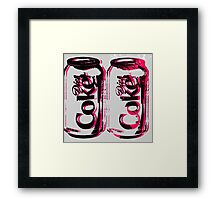 Diet Coke Can Framed Print