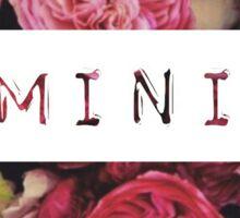 Floral Feminist Design Sticker