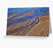 Rivulets on Sand Beach 2 Greeting Card