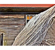 Fishing Shack and Nets Photographic Print