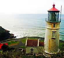 HECETA HEAD LIGHTHOUSE  by Landonstudios