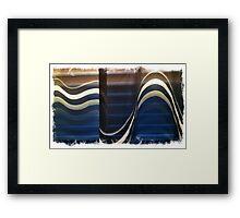 Sheer Blind Window Wave Framed Print