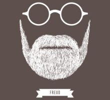 Beards with Glasses – Sigmund Freud in White by Justin Ladia