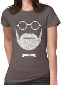 Beards with Glasses – Sigmund Freud in White Womens Fitted T-Shirt