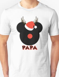 Mickey the Red Nose Mouse - Deer Dad Papa T-Shirt