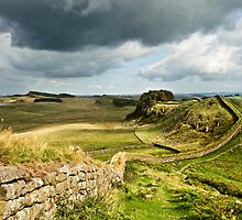 Hadrian's Wall from Cuddys Crag by Joan Thirlaway