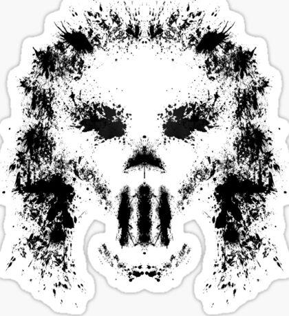 Casey Jones Rorschach Test Sticker
