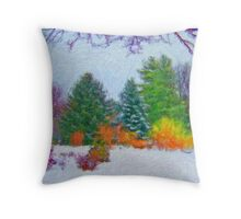 Stunning Fine Art Winter Scene (No.1) Throw Pillow