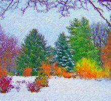 Stunning Fine Art Winter Scene (No.1) by JoieDesigns