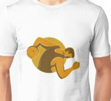 discus thrower throwing side retro style Unisex T-Shirt