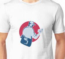 mailman postman deliver mail envelope retro Unisex T-Shirt