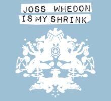 """Joss Whedon Is My Shrink"" - Light Kids Tee"