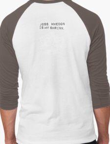 """""""Joss Whedon Is My Shrink"""" - Light Men's Baseball ¾ T-Shirt"""