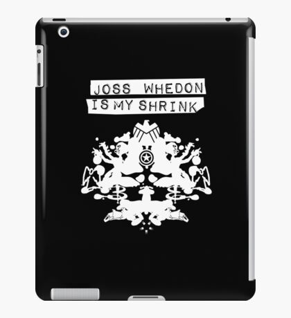 """Joss Whedon Is My Shrink"" - Light iPad Case/Skin"
