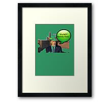 """It's not Romney hood"" funny robin hood tax dodge shirt Framed Print"