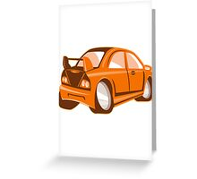 Cartoon style sports car isolated Greeting Card