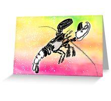 The Crayfish Star Sign Greeting Card