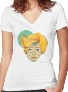 Miss. Sugar Women's Fitted V-Neck T-Shirt