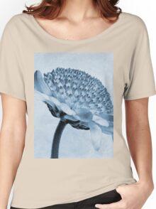 Chrysanthemum Cyanotype Women's Relaxed Fit T-Shirt