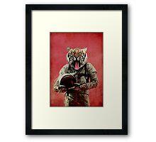 Space tiger Framed Print