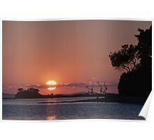 Islands sunset Poster