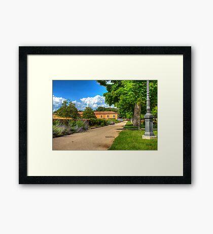 Plaza della liberta, Siena, Italy Framed Print