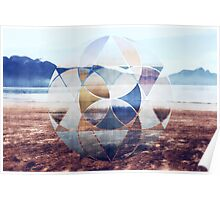 Geometric landscape Poster