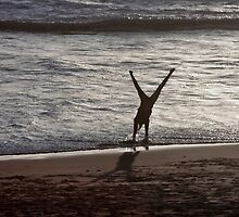 Cartwheels on the Beach by cjfehr