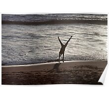 Cartwheels on the Beach Poster