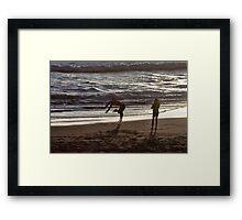 Beach Back Flips Framed Print