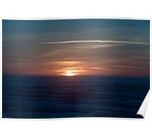 Sleeping Sun over the Pacific Ocean Poster