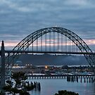 Yaquina Bay Bridge before Sunrise by cjfehr