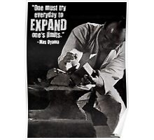 Expand Your Limits - Mas Oyama Motivation Poster