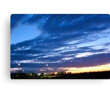 Sunrise Hues of Blues Canvas Print