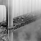 Foggy Golden Gate Bridge Traffic by Daisy Yeung