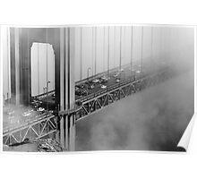 Foggy Golden Gate Bridge Traffic Poster