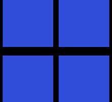 Blue Rectangles by Paula J James