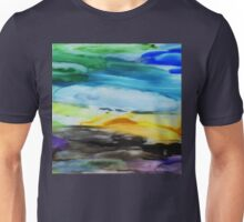 Peaceful Landscape Abstract Watercolor Painting Unisex T-Shirt