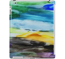 Peaceful Landscape Abstract Watercolor Painting iPad Case/Skin