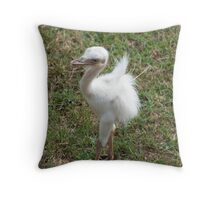 Blue Eyed Baby Bird - At Lake Tobias Throw Pillow