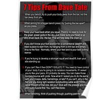 7 Lifting Tips by Dave Tate Poster