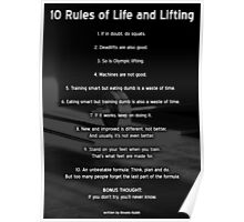 10 Rules of Life and Lifting Poster