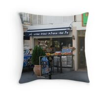 Fruit Stand, Tel Aviv, Israel Throw Pillow