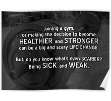 Strength and Health Motivation Poster